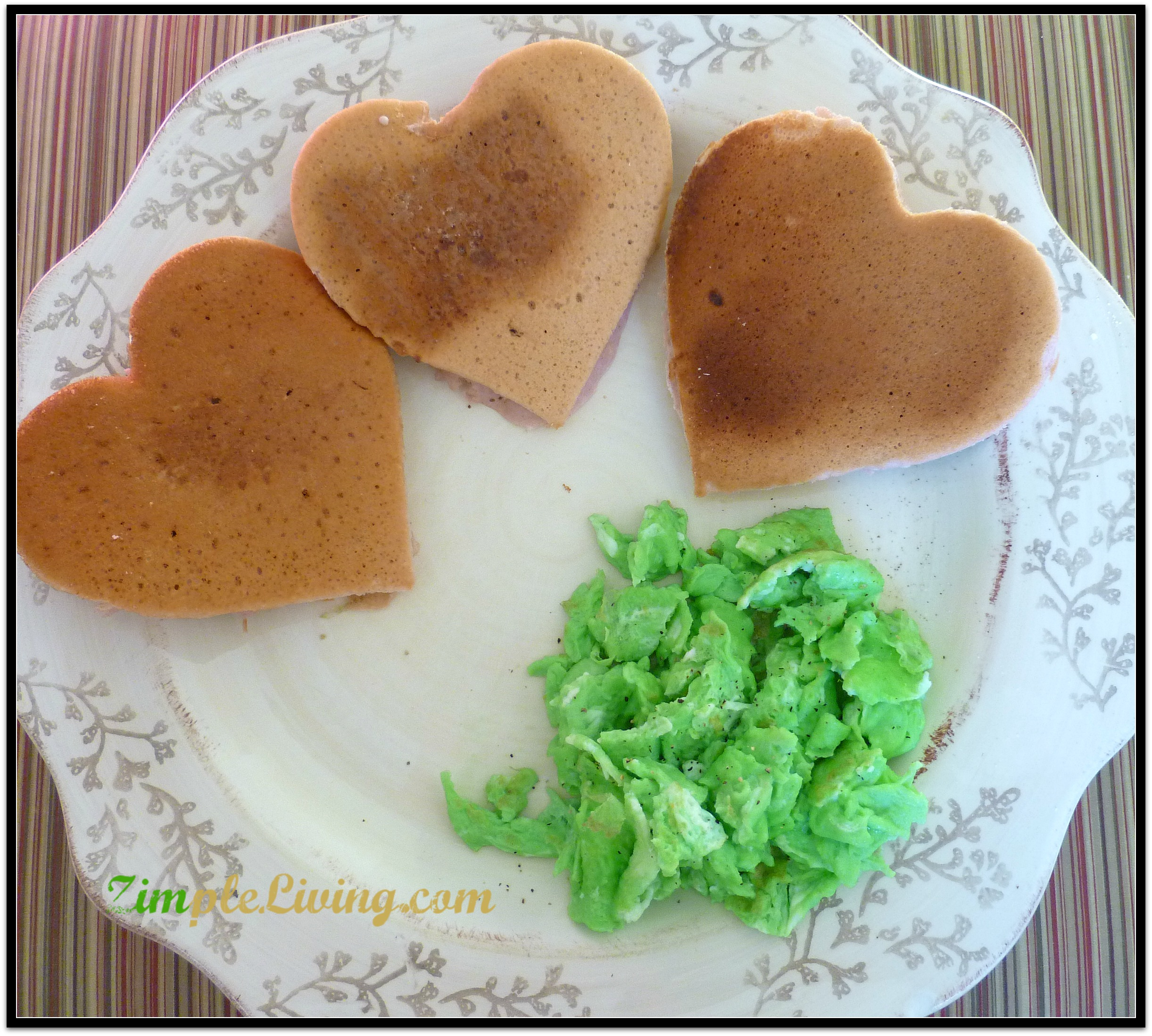 Easy Peasy Recipezy – Heart Pancakes and Green Eggs